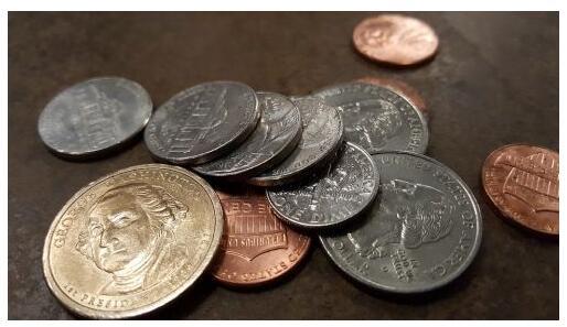 Coins, like pennies on the dollar