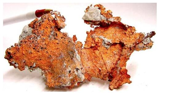 Copper in its natural state is in a solid state